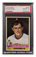1976 Topps Nolan Ryan Baseball Card PSA 8