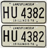 1978 Illinois License Plates