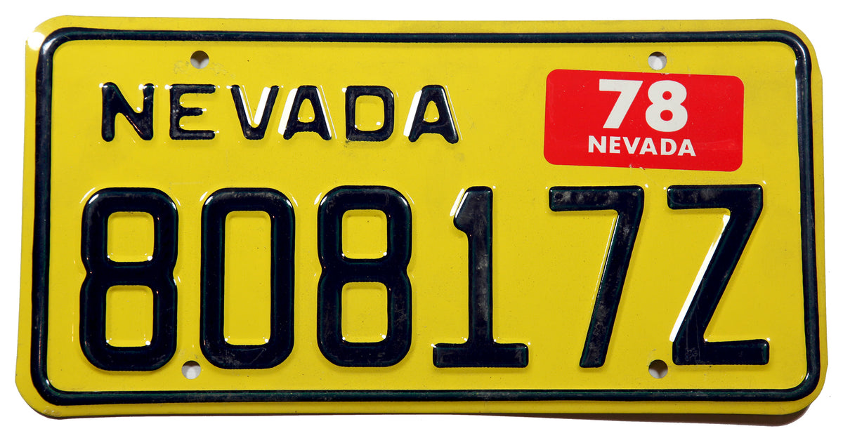 1978 Nevada Motor Carrier Mileage Tax license plate in NOS excellent minus condition