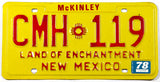1978 New Mexico passenger car license plate in excellent minus condition