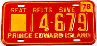 1978 Prince Edward Island heavy truck license plate in excellent minus condition