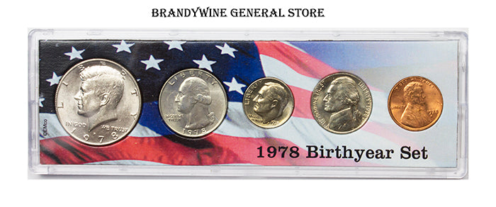 1978 Birth Year Coin Set in uncirculated condition