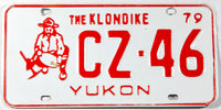 A 1979 Yukon passenger car license plate in excellent minus condition