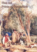 Gamekeeper and Boy Ferreting a Rabbit by John Frederick Lewis