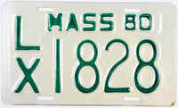 1980 Massachusetts Motorcycle License Plate