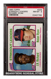 1980 Nolan Ryan Topps Strikeout Leaders PSA 8
