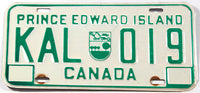 A classic 1981 passenger car license plate from the Canadian province of Prince Edward Island in very good plus condition