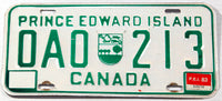 A classic 1983 passenger car license plate from the Canadian province of Prince Edward Island in very good plus condition