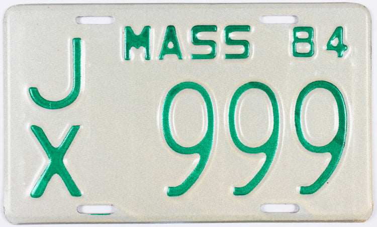 1984 Massachusetts Motorcycle License Plate