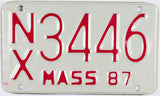 1987 Massachusetts Motorcycle License Plate