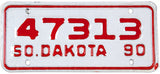 1990 South Dakota Motorcycle License Plate in near mint condition