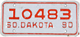 1990 South Dakota Motorcycle License Plate in very good plus to excellent minus condition