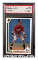 1991 Chipper Jones Upper Deck Rookie Baseball Card PSA Mint 9