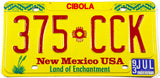 1993 New Mexico car License Plate from Cibola County in excellent condition