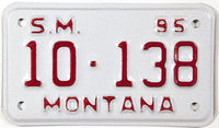 1995 Montana Special Mobile license plate in NOS Excellent plus condition