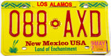 1997 New Mexico car license plate from Los Alamos County in Excellent minus condition