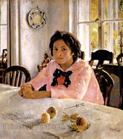 Girl With Peaches painted by Valentin Serov Art Print