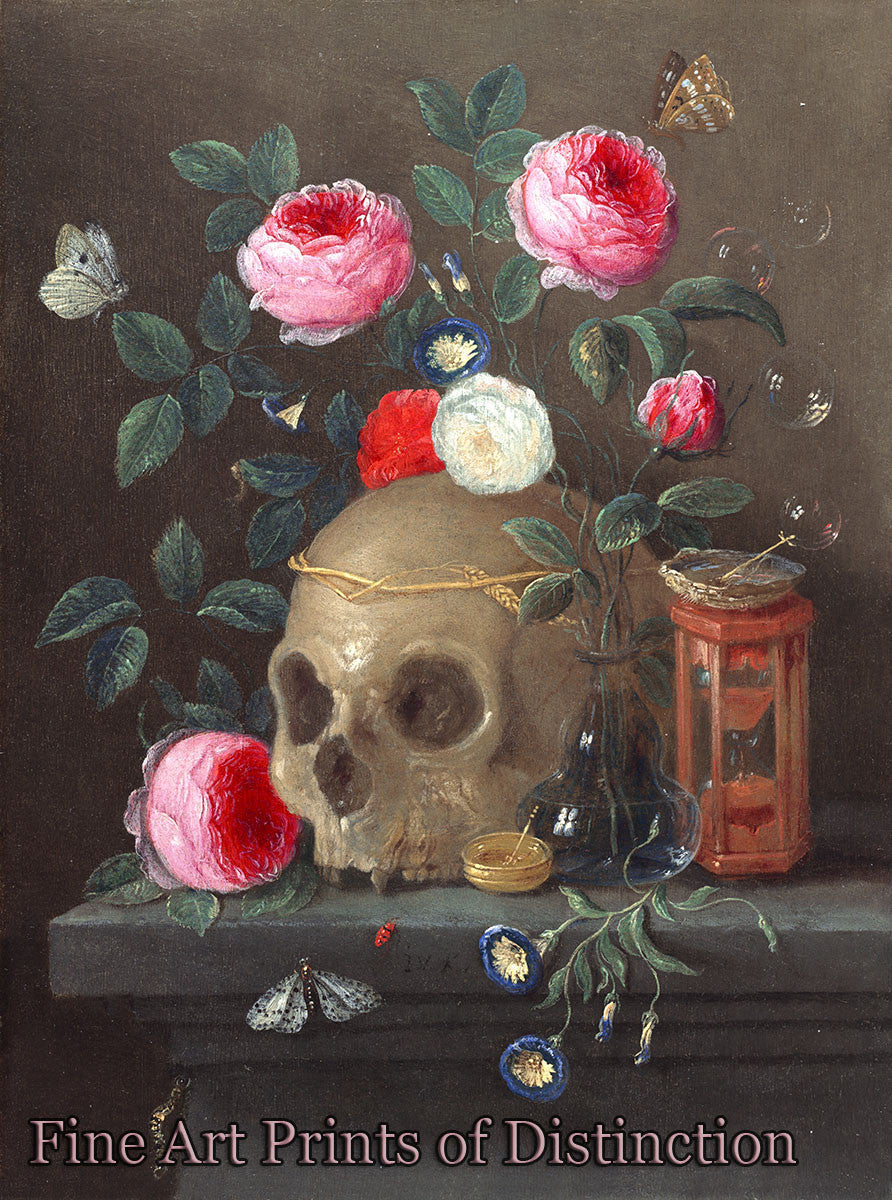 Vanitas Still Life by Jan van Kessel