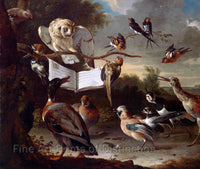 Concert of Birds by Melchior d'Hondecoeter