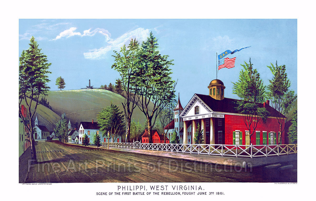 Phillipi Scene of the First Battle of the Civil War Art Print