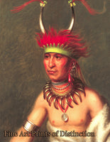 King, Charles Bird - Prairie Wolf a Native American Portrait