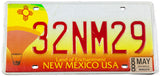 2000 New Mexico balloon base license plate in excellent minus condition