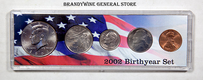 2002 Birth Year Coin Set