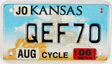 2006 Kansas Motorcycle License Plate