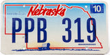 2006 Nebraska car license plate in very good plus condition