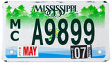 2007 scenic Mississippi motorcycle license plate in excellent minus condition