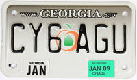 2009 Georgia motorcycle license plate in Excellent Plus conditon