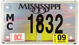 2009 Mississippi Motorcycle Lighthouse License Plate