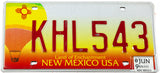 2009 New Mexico balloon base car license plate in excellent minus condition
