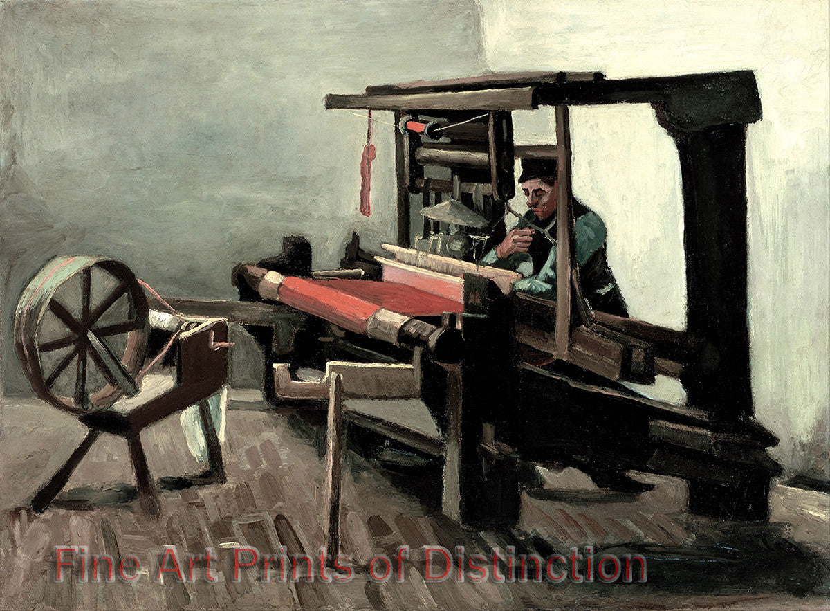 Weaver Facing Left with Spinning Wheel by Vincent Van Gogh