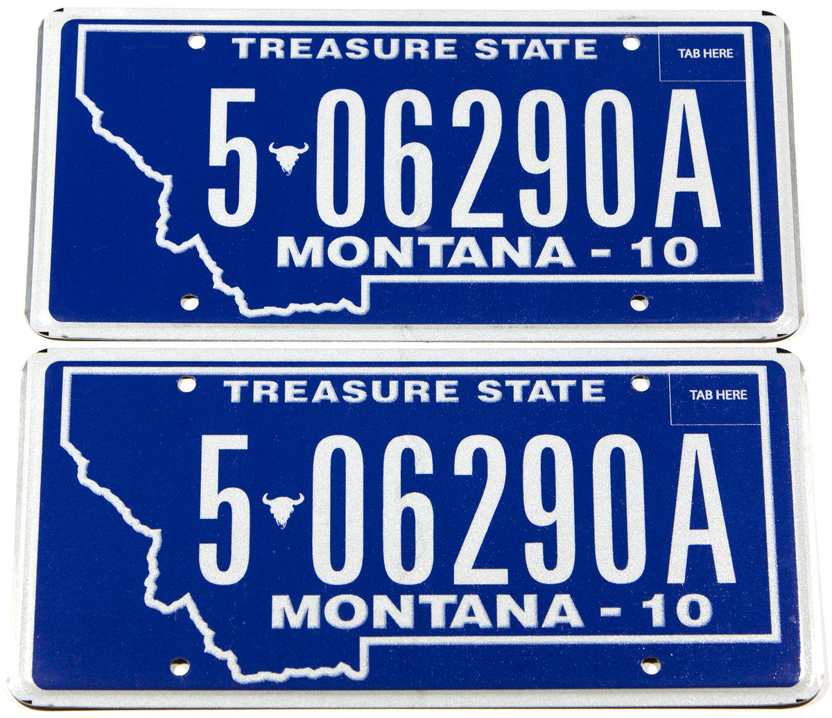 2010 Montana car license plates in NOS near mint condition