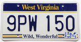 2011 West Virginia passenger car license plate grading excellent minus