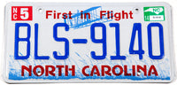 2014 North Carolina passenger car license plate in excellent minus condition