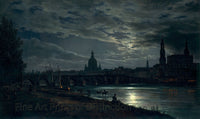 Dresden by Moonlight by Johan Christian Dahl