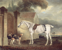 Lord Lonsdale's Fleabitten Grey Hunter, Brass, at Cottesmore with the Cottesmore Hounds by John Ferneley Sr