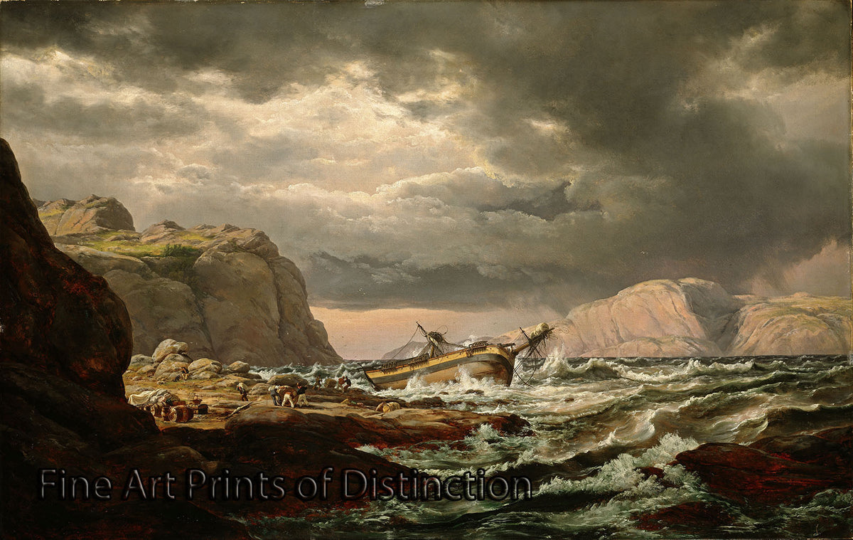 Shipwreck on the Coast of Norway by Johan Christian Dahl