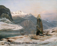 Winter at the Sognefjord by Johan Christian Dahl