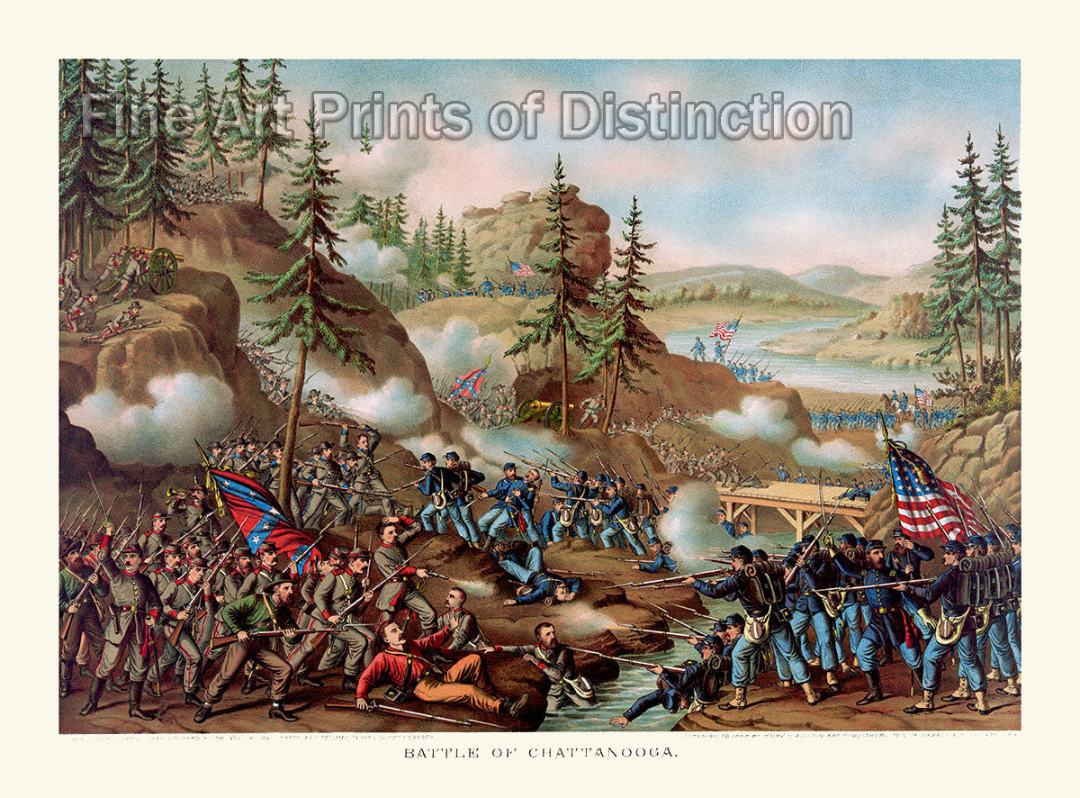 The Battle of Chattanooga by Kurz and Allison from 1888