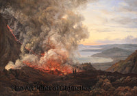 Eruption of the Volcano Vesuvius by Johan Christian Dahl