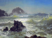 Seal Rocks in California by Albert Bierstadt