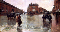 Rainy Day in Boston by Childe Hassam Art Print