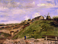 Van Gogh Vincent - The Hill of Montmartre with Stone Quarry Fine Art Print