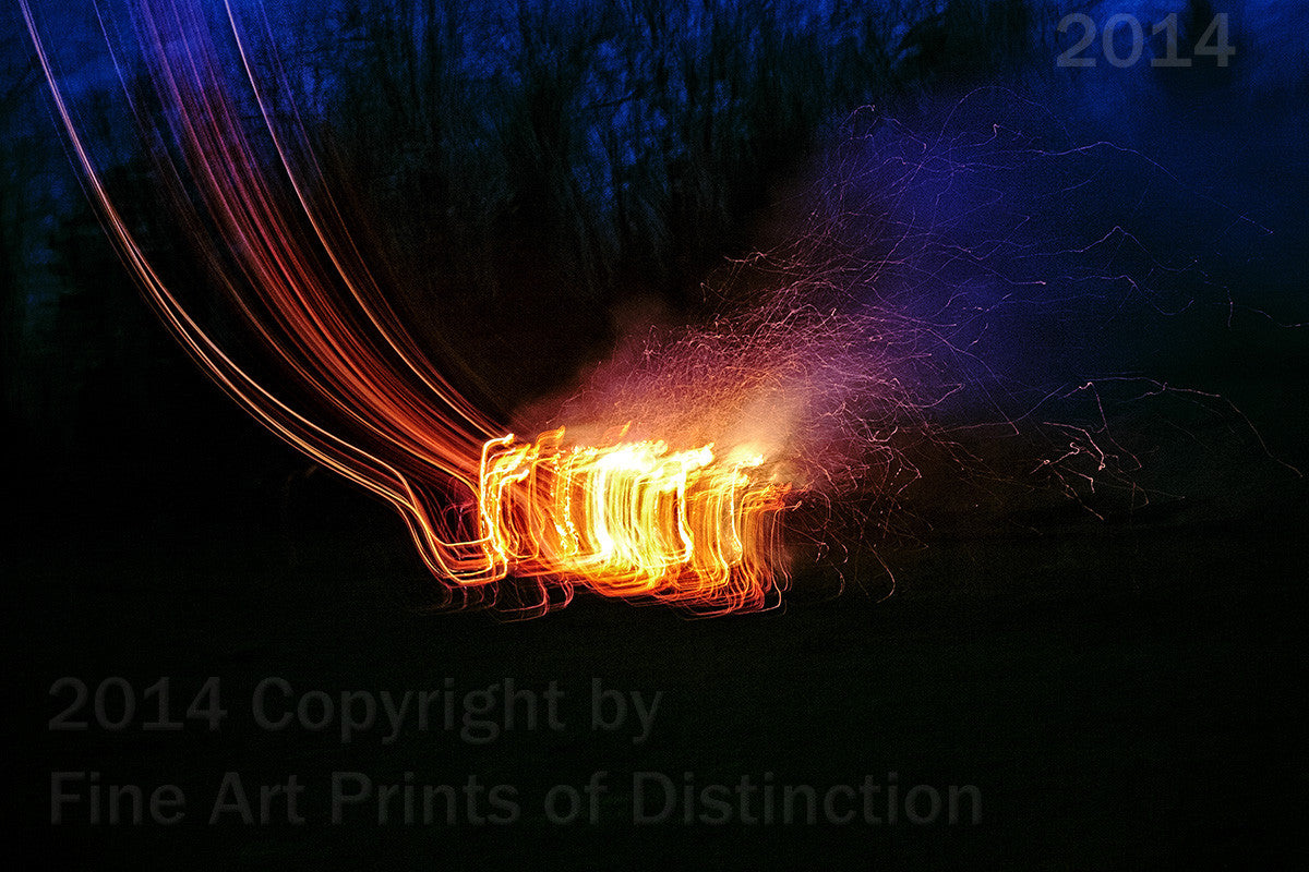Fire Behaving Strangely Art Print