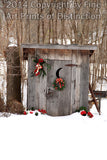 Christmas Country Outhouse Art Print
