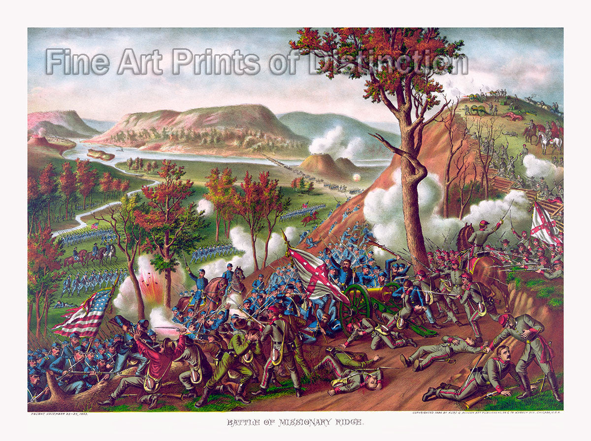 The Battle of Missionary Ridge by Kurz and Allison