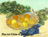 Still Life of Oranges and Lemons with Blue Gloves by Vincent Van Gogh